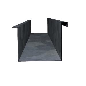 Chéneau acier galvanisé