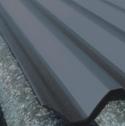 Bac acier simple peau de sur-couverture pour plaque ondulée fibrociment coloris gris anthracite-bleu