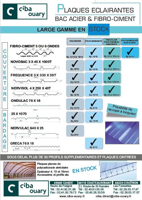 2 nouveaux profils en polycarbonate