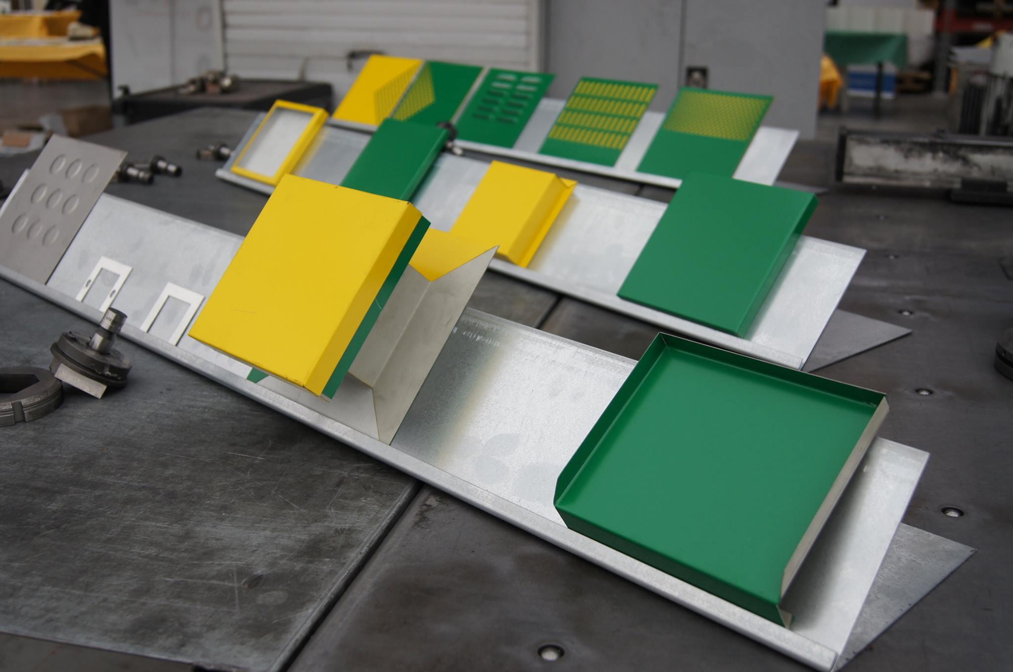 découpes sur tôles acier, aluminium ou autres.