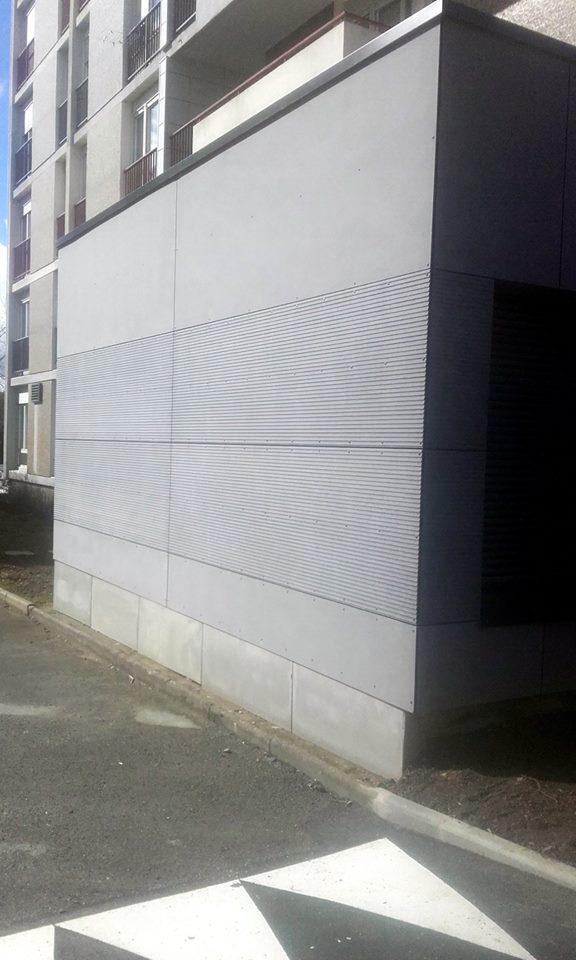 façade en panneaux fibrociment de la gamme EQUITONE