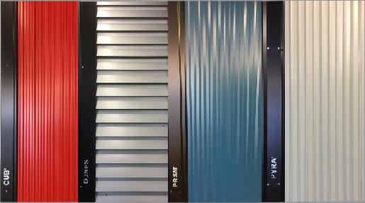gamme CREATIV'BAC, proposant 4 profils décoratifs
