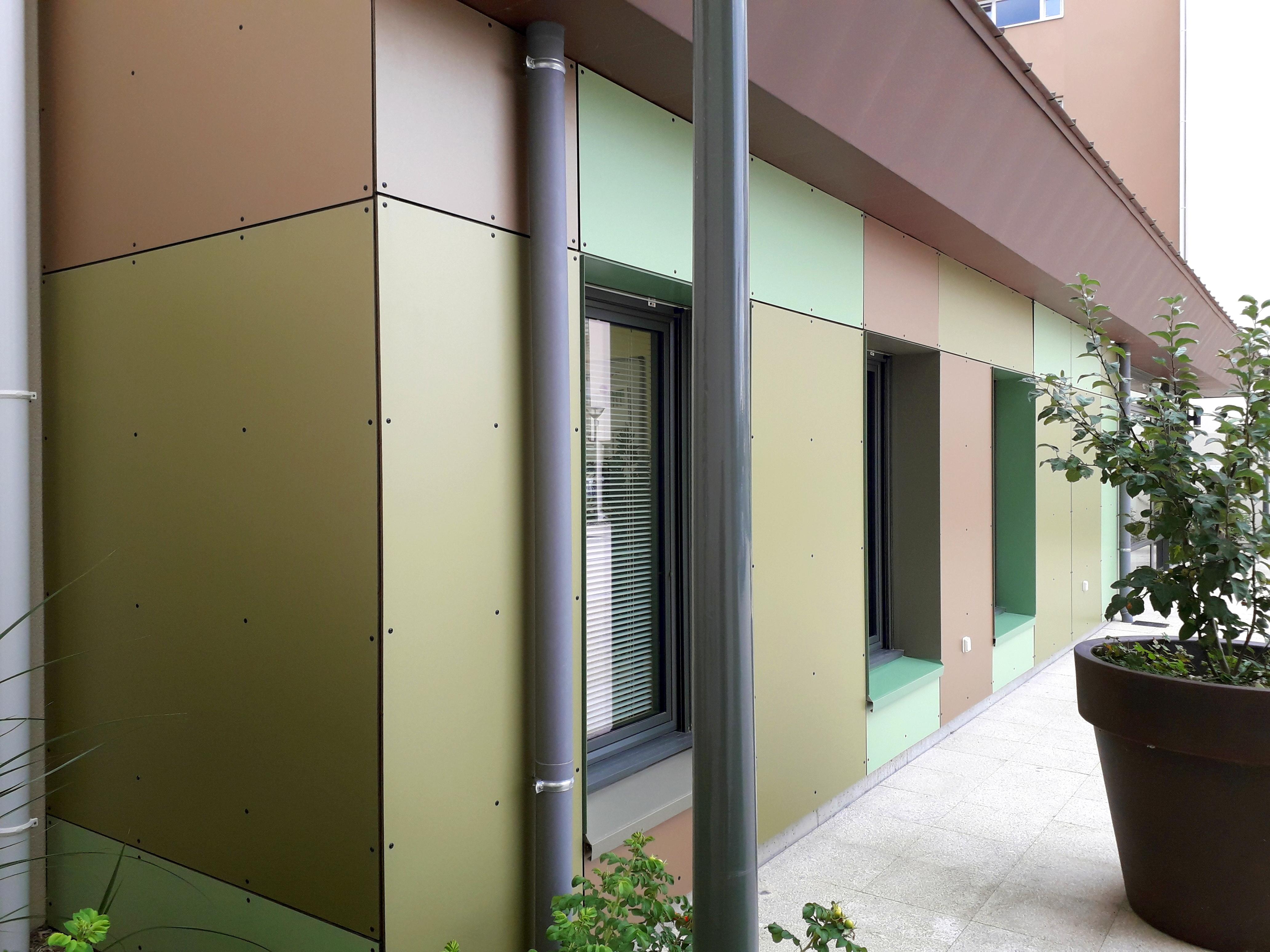 décors de panneaux stratifiés TRESPA METEON en façade