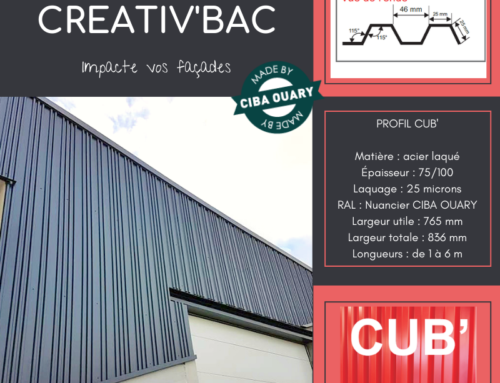 ZOOM CHANTIER – CREATIV'BAC Profil CUB'