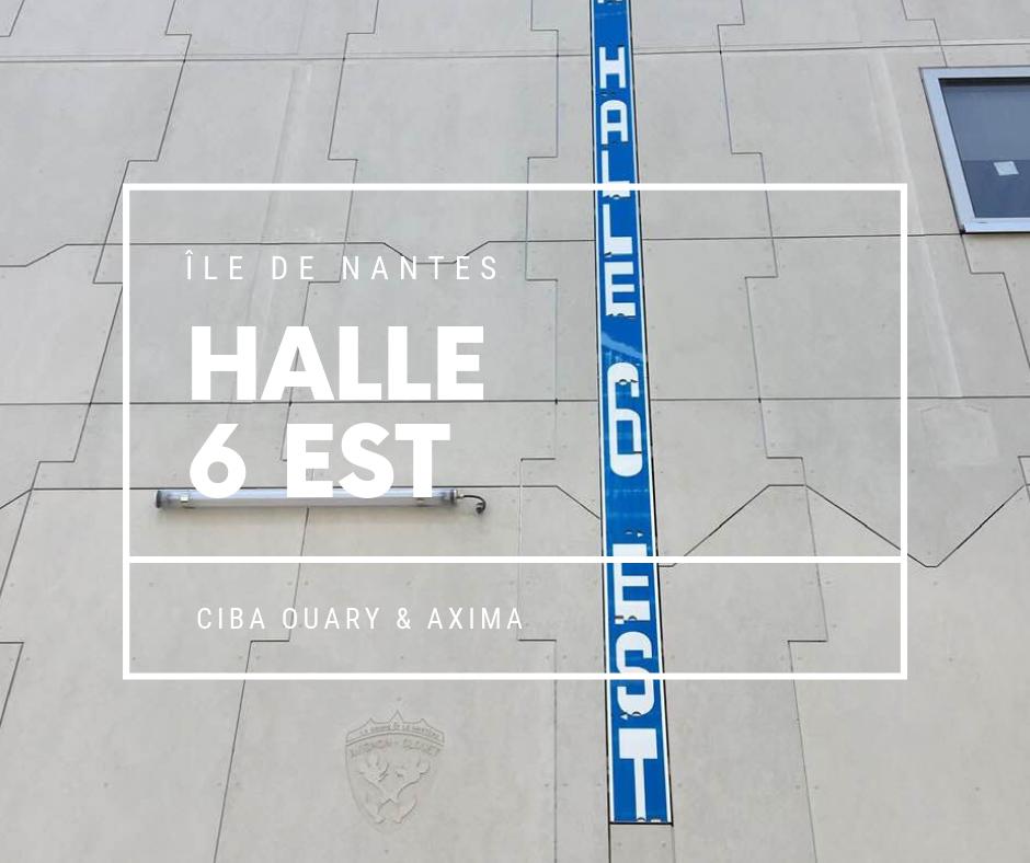 CIBA OUARY Chantier Halle 6 Nantes façade en panneaux TECTIVA fibrociment