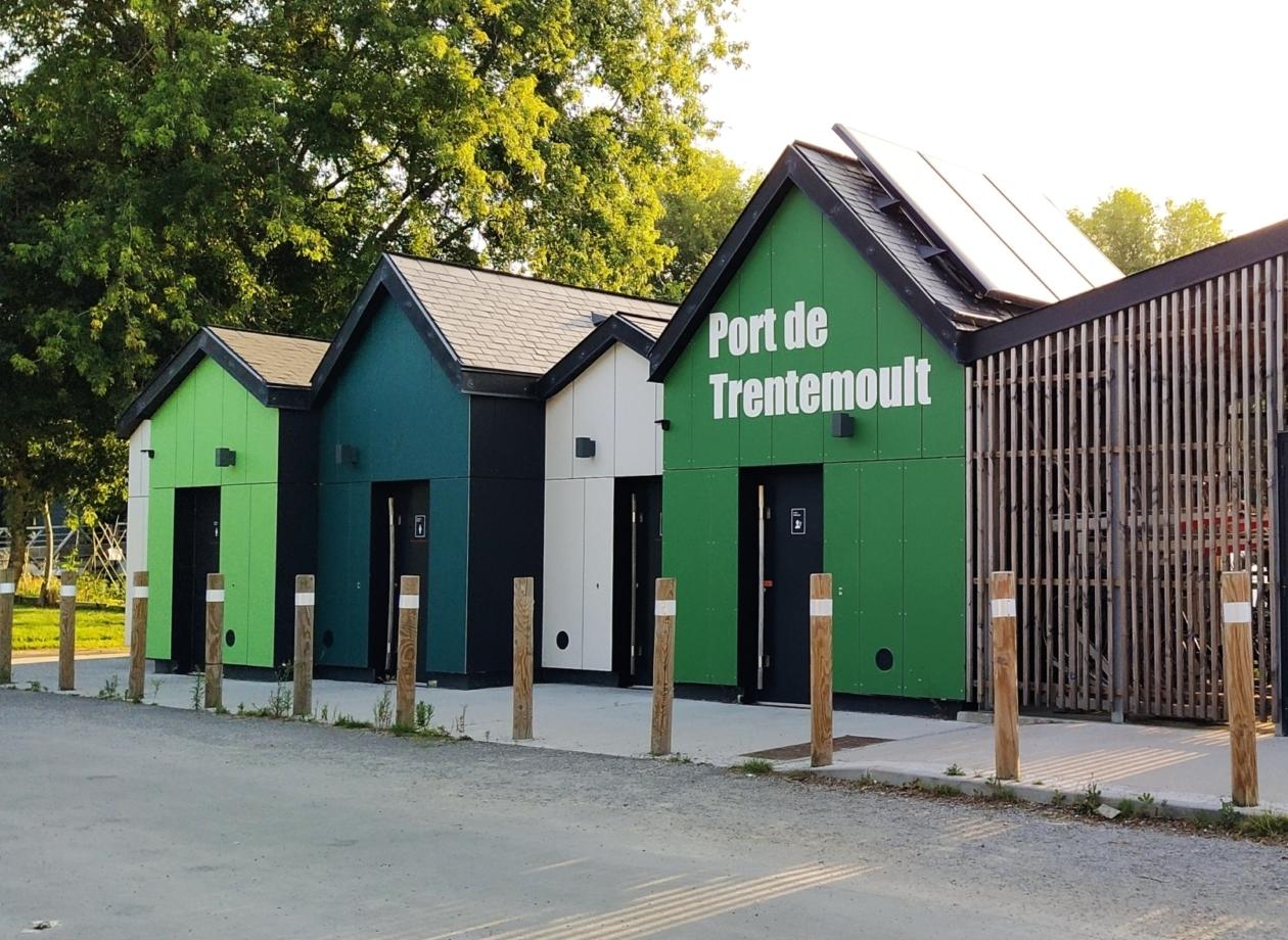 Port de Trentemoult façade fibrociment PICTURA vert