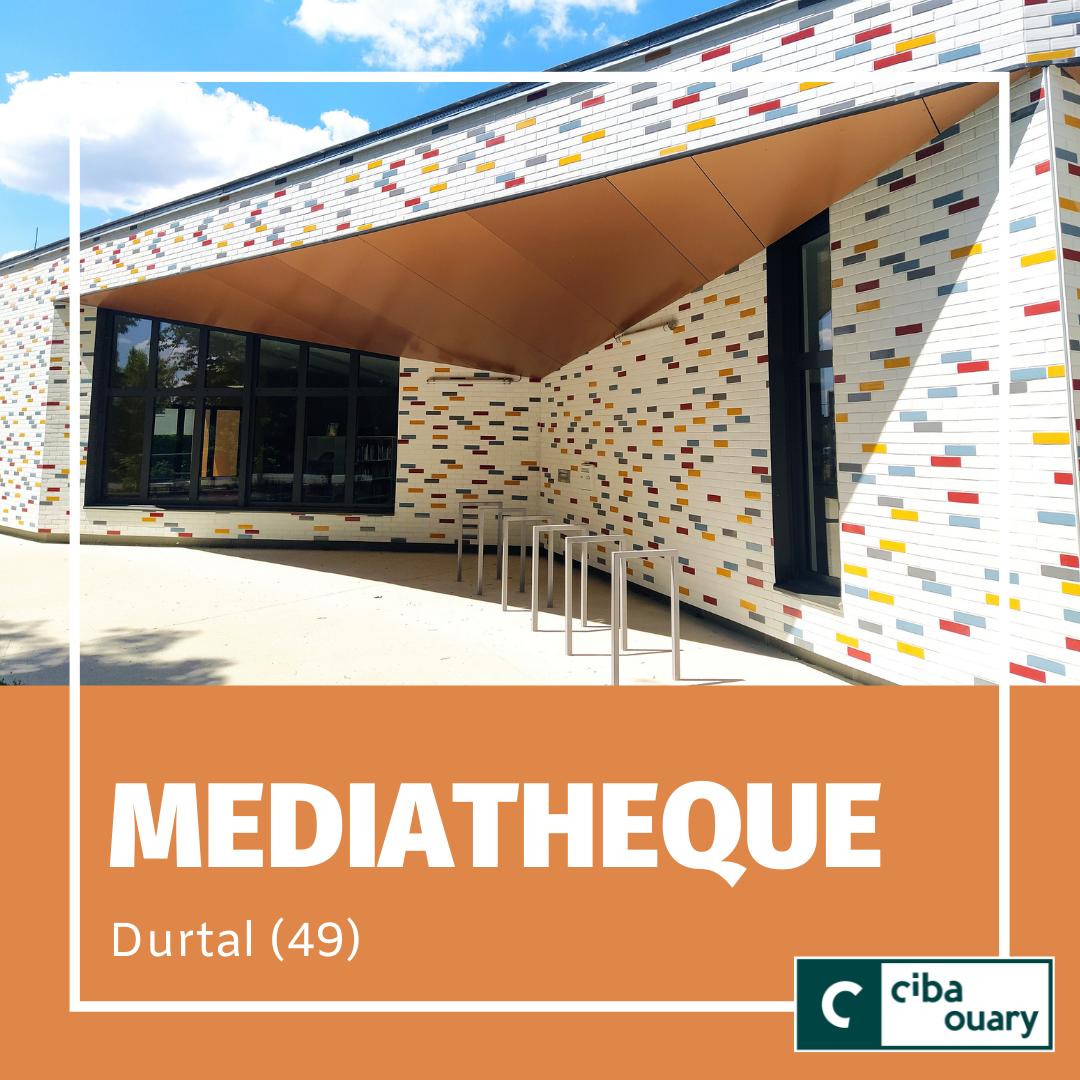 Façade en STACBOND cuivre de la médiathèque de Durtal